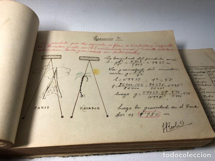 Documentos antiguos: MANUSCRITO DE MECANICA Y FISICA CON 394 EJERCICIOS REALIZADOS ,AÑOS 40..50 - Foto 24 - 122815215