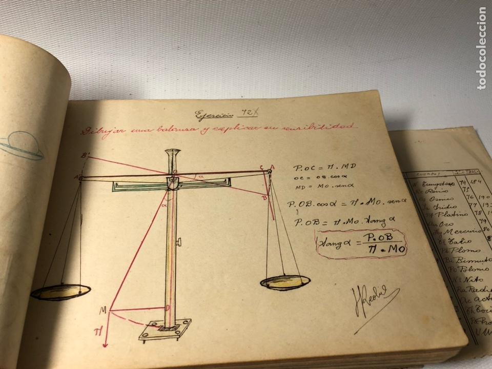 Documentos antiguos: MANUSCRITO DE MECANICA Y FISICA CON 394 EJERCICIOS REALIZADOS ,AÑOS 40..50 - Foto 25 - 122815215