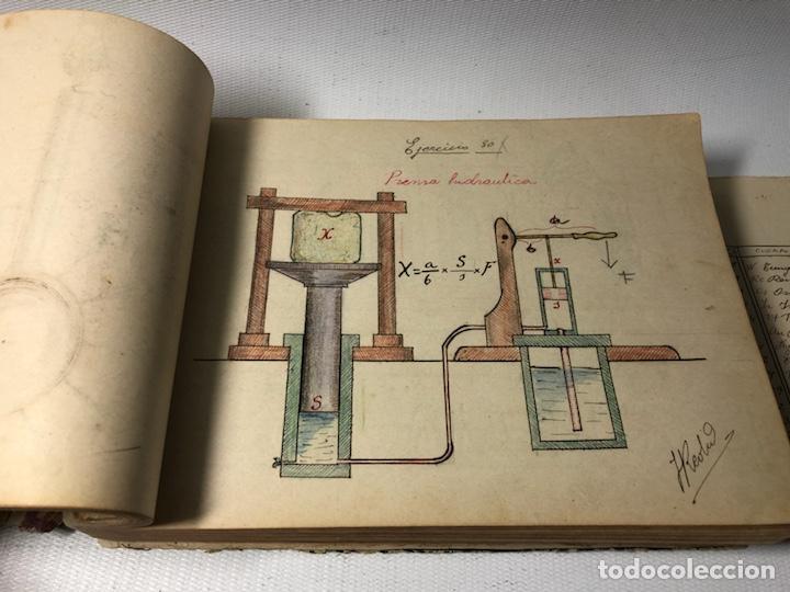 Documentos antiguos: MANUSCRITO DE MECANICA Y FISICA CON 394 EJERCICIOS REALIZADOS ,AÑOS 40..50 - Foto 26 - 122815215