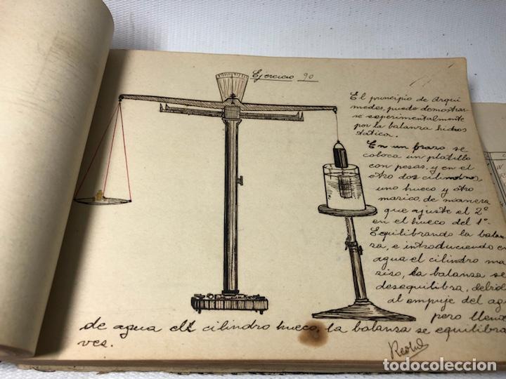 Documentos antiguos: MANUSCRITO DE MECANICA Y FISICA CON 394 EJERCICIOS REALIZADOS ,AÑOS 40..50 - Foto 28 - 122815215
