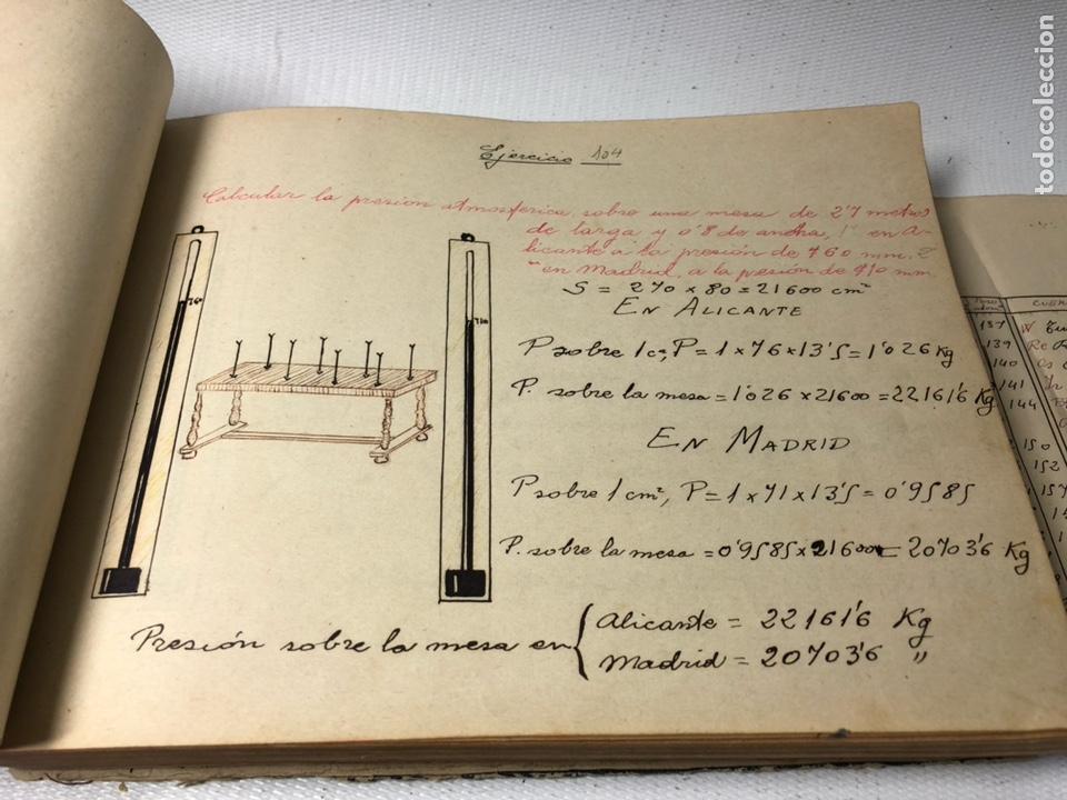 Documentos antiguos: MANUSCRITO DE MECANICA Y FISICA CON 394 EJERCICIOS REALIZADOS ,AÑOS 40..50 - Foto 33 - 122815215