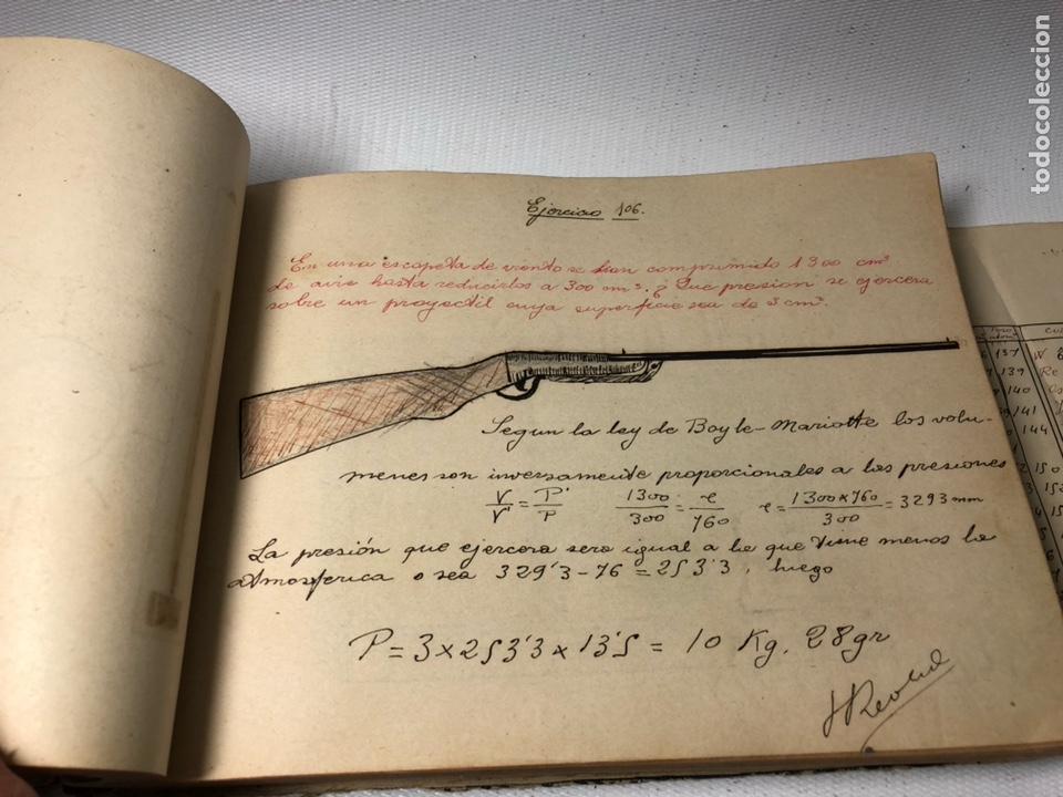 Documentos antiguos: MANUSCRITO DE MECANICA Y FISICA CON 394 EJERCICIOS REALIZADOS ,AÑOS 40..50 - Foto 34 - 122815215