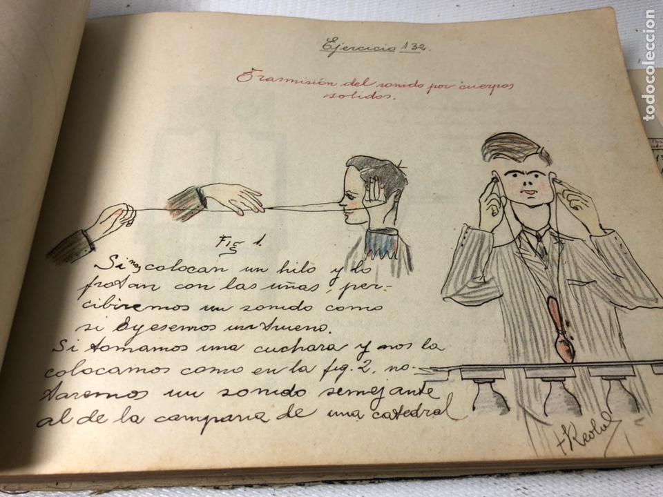 Documentos antiguos: MANUSCRITO DE MECANICA Y FISICA CON 394 EJERCICIOS REALIZADOS ,AÑOS 40..50 - Foto 40 - 122815215