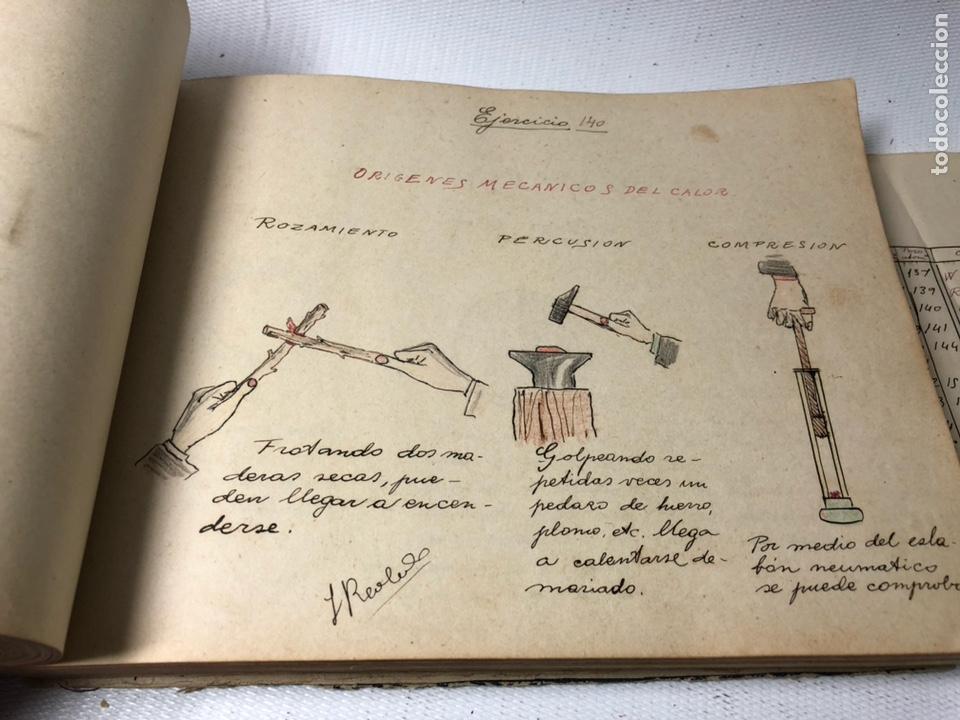 Documentos antiguos: MANUSCRITO DE MECANICA Y FISICA CON 394 EJERCICIOS REALIZADOS ,AÑOS 40..50 - Foto 43 - 122815215