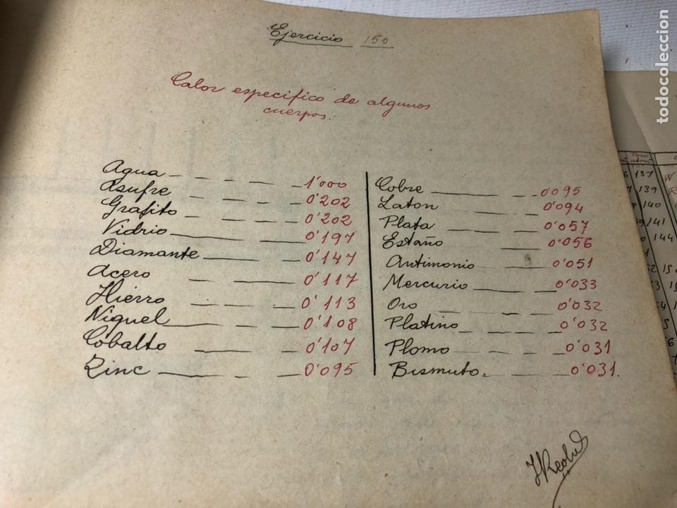 Documentos antiguos: MANUSCRITO DE MECANICA Y FISICA CON 394 EJERCICIOS REALIZADOS ,AÑOS 40..50 - Foto 45 - 122815215