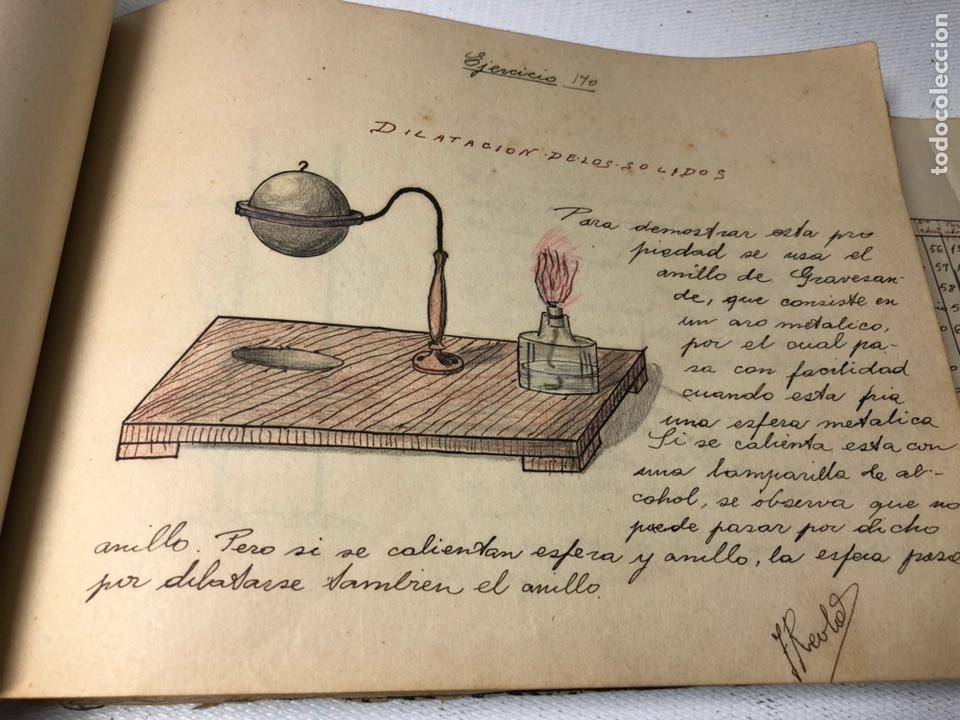 Documentos antiguos: MANUSCRITO DE MECANICA Y FISICA CON 394 EJERCICIOS REALIZADOS ,AÑOS 40..50 - Foto 46 - 122815215