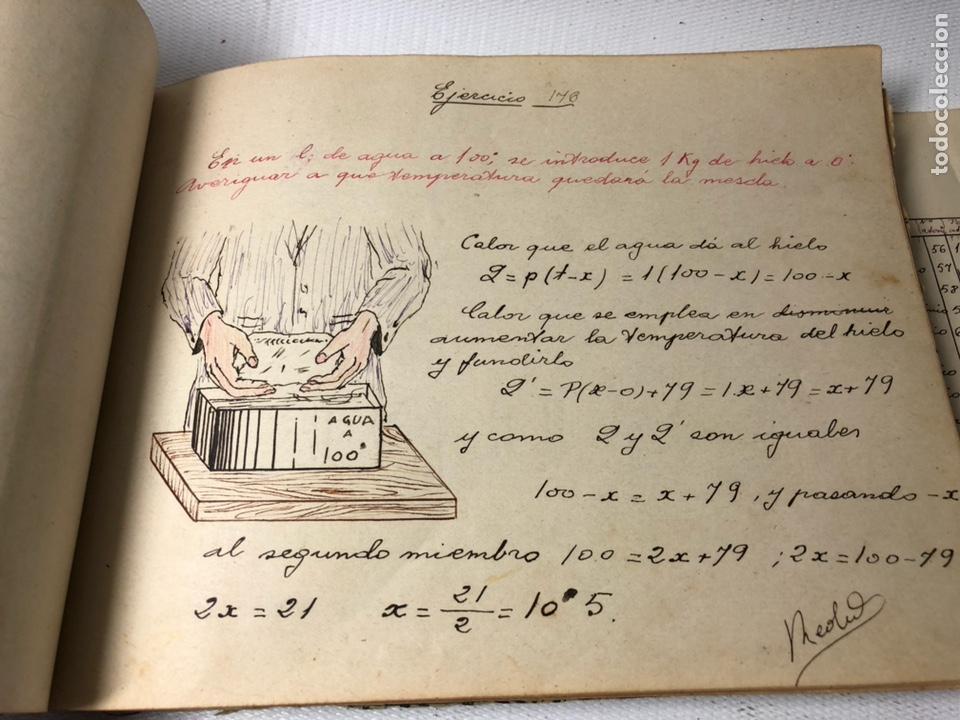 Documentos antiguos: MANUSCRITO DE MECANICA Y FISICA CON 394 EJERCICIOS REALIZADOS ,AÑOS 40..50 - Foto 47 - 122815215