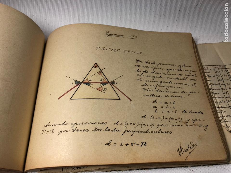 Documentos antiguos: MANUSCRITO DE MECANICA Y FISICA CON 394 EJERCICIOS REALIZADOS ,AÑOS 40..50 - Foto 52 - 122815215