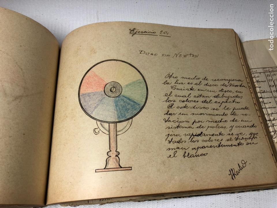 Documentos antiguos: MANUSCRITO DE MECANICA Y FISICA CON 394 EJERCICIOS REALIZADOS ,AÑOS 40..50 - Foto 54 - 122815215