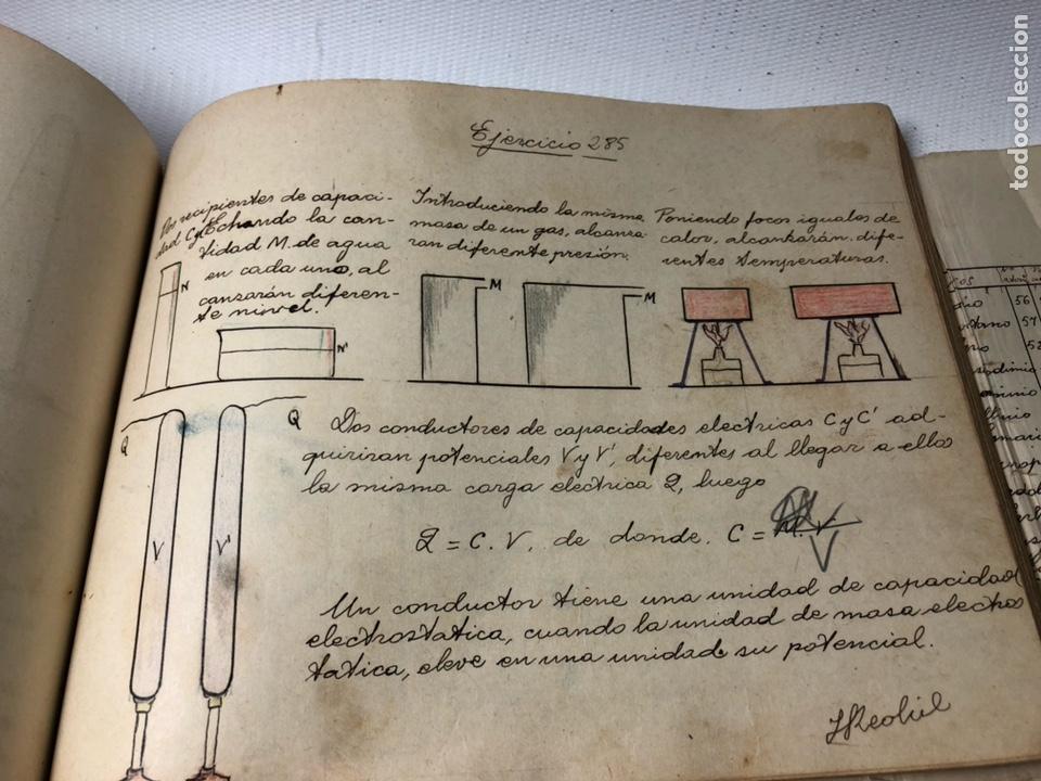 Documentos antiguos: MANUSCRITO DE MECANICA Y FISICA CON 394 EJERCICIOS REALIZADOS ,AÑOS 40..50 - Foto 56 - 122815215
