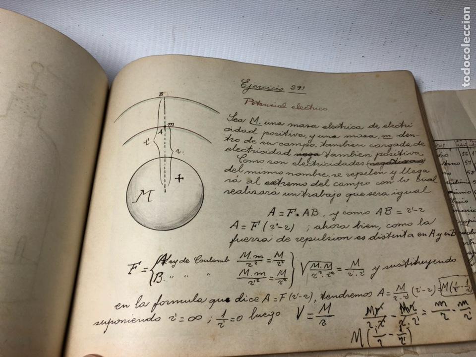 Documentos antiguos: MANUSCRITO DE MECANICA Y FISICA CON 394 EJERCICIOS REALIZADOS ,AÑOS 40..50 - Foto 58 - 122815215