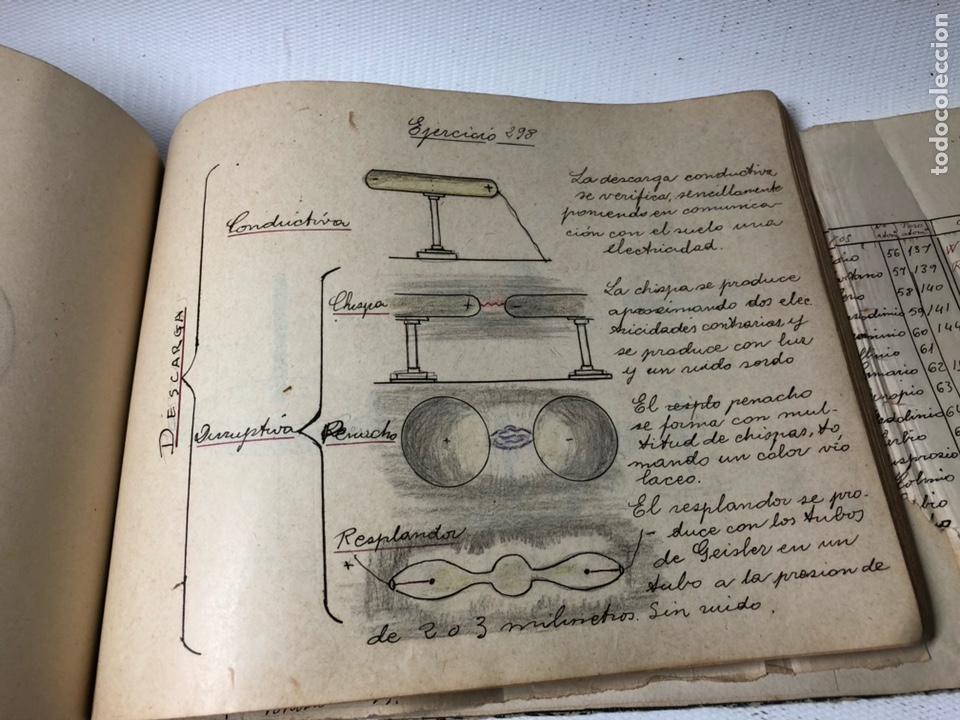 Documentos antiguos: MANUSCRITO DE MECANICA Y FISICA CON 394 EJERCICIOS REALIZADOS ,AÑOS 40..50 - Foto 61 - 122815215