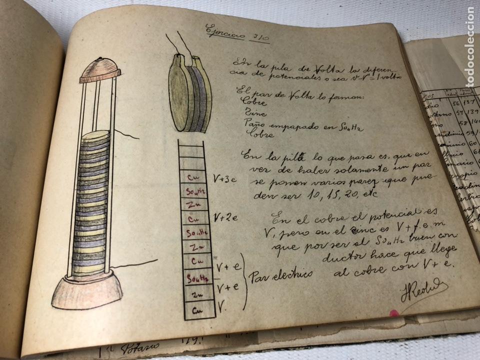 Documentos antiguos: MANUSCRITO DE MECANICA Y FISICA CON 394 EJERCICIOS REALIZADOS ,AÑOS 40..50 - Foto 62 - 122815215