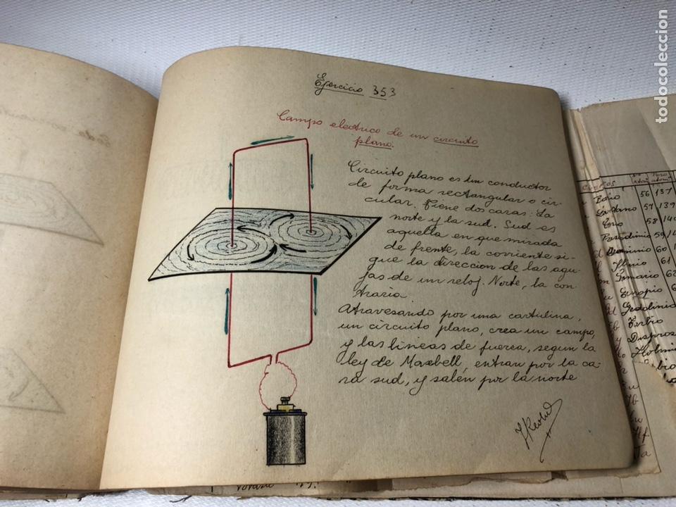 Documentos antiguos: MANUSCRITO DE MECANICA Y FISICA CON 394 EJERCICIOS REALIZADOS ,AÑOS 40..50 - Foto 65 - 122815215