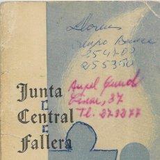 Documentos antiguos: == LP13 - AGENDA JUNTA CENTRAL FALLERA - 1965 - 66. Lote 122924771