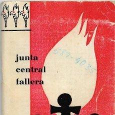 Documentos antiguos: == LP14 - AGENDA JUNTA CENTRAL FALLERA - 1967 - 68. Lote 122924835