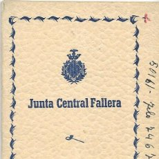 Documentos antiguos: == LP16 - AGENDA JUNTA CENTRAL FALLERA - 1956 - 57. Lote 122925167