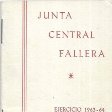 Documentos antiguos: == LP17 - AGENDA JUNTA CENTRAL FALLERA - 1963 - 64. Lote 122925211