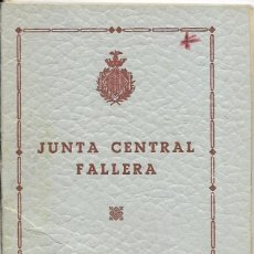Documentos antiguos: == LP18 - AGENDA JUNTA CENTRAL FALLERA - 1955 - 56. Lote 122925239