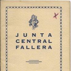 Documentos antiguos: == LP19 - AGENDA JUNTA CENTRAL FALLERA - 1958 - 59. Lote 122925307