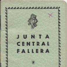 Documentos antiguos: == LP20 - AGENDA JUNTA CENTRAL FALLERA - 1960 / 61. Lote 122931943