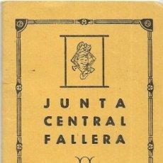 Documentos antiguos: == LP21 - AGENDA JUNTA CENTRAL FALLERA - 1961 / 62. Lote 122931947