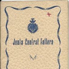 Documentos antiguos: == LP22 - AGENDA JUNTA CENTRAL FALLERA - 1957 / 58. Lote 122931955