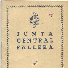 Documentos antiguos: == LP23 - AGENDA JUNTA CENTRAL FALLERA - 1959 / 60. Lote 122931963