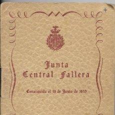 Documentos antiguos: == LP27 - AGENDA JUNTA CENTRAL FALLERA - 1953 / 54. Lote 122932019