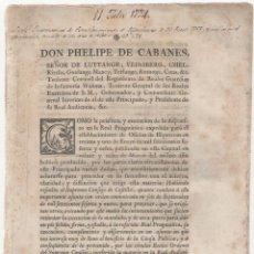 Documentos antiguos: NUMULITE A3022 DON FELIPE DE CABANES OFICIOS DE HIPOTECAS PRINCIPADO DE CATALUÑA 1774 37 PÁGINAS. Lote 122970439