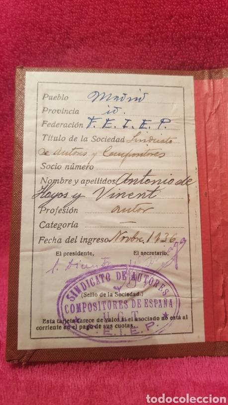 Documentos antiguos: Carnet de los estatutos de la Unión General de Trabajadores Madrid+ Carnet de federado - Foto 4 - 122974188