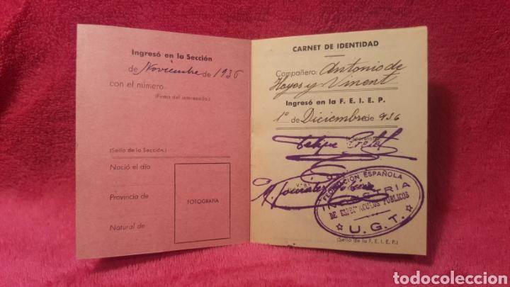 Documentos antiguos: Carnet de los estatutos de la Unión General de Trabajadores Madrid+ Carnet de federado - Foto 8 - 122974188