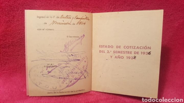 Documentos antiguos: Carnet de los estatutos de la Unión General de Trabajadores Madrid+ Carnet de federado - Foto 9 - 122974188