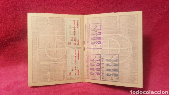 Documentos antiguos: Carnet de los estatutos de la Unión General de Trabajadores Madrid+ Carnet de federado - Foto 10 - 122974188