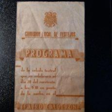 Documentos antiguos: ALCOY ALICANTE TEATRO CALDERÓN 1939. Lote 122999680