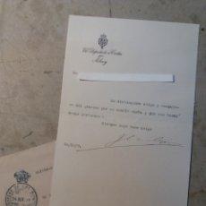 Documentos antiguos: JOSÉ CANALEJAS Y MÉNDEZ DIPUTADO A CORTÉS POR ALCOY ALICANTE.. Lote 123000318