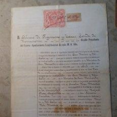 Documentos antiguos: CONDE DE ROMANONES ALCALDE DE MADRID 1894.. Lote 123000466