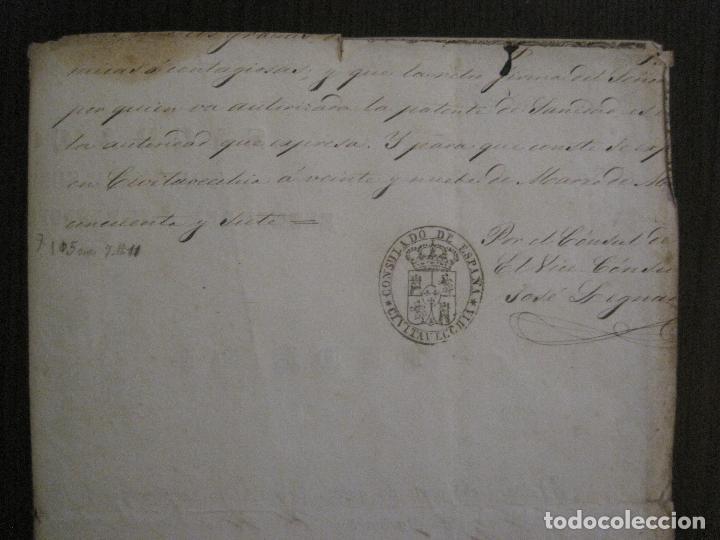 Documentos antiguos: TRIBUNAL SUPREMO DE SANIDAD- LITORAL PONTIFICIO MEDITERRANEO-AÑO 1857 -VER FOTOS-(V-14.781) - Foto 10 - 123384751