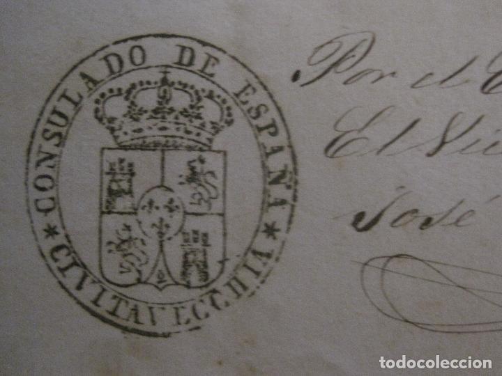 Documentos antiguos: TRIBUNAL SUPREMO DE SANIDAD- LITORAL PONTIFICIO MEDITERRANEO-AÑO 1857 -VER FOTOS-(V-14.781) - Foto 11 - 123384751