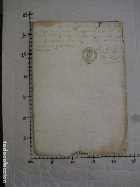 Documentos antiguos: TRIBUNAL SUPREMO DE SANIDAD- LITORAL PONTIFICIO MEDITERRANEO-AÑO 1857 -VER FOTOS-(V-14.781) - Foto 12 - 123384751