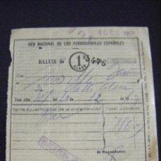 Documents Anciens: JML BILLETE 1ª CLASE RED NACIONAL DE LOS FERROCARRILES ESPAÑOLES 1957, RARO. PREGUNTAR.. Lote 123420735