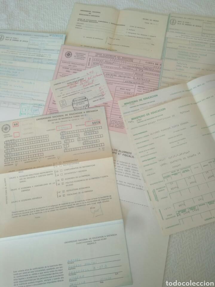 RECIBOS.MATRICULA EJERCISIO PRESUPUESTARIO ETC VER FOTO AÑOS 70.CAJA AHORRO UNIVERSIDAD NACIONAL (Coleccionismo - Documentos - Otros documentos)
