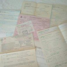Documentos antiguos: RECIBOS.MATRICULA EJERCISIO PRESUPUESTARIO ETC VER FOTO AÑOS 70.CAJA AHORRO UNIVERSIDAD NACIONAL. Lote 123586934