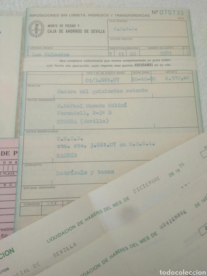 Documentos antiguos: RECIBOS.MATRICULA EJERCISIO PRESUPUESTARIO ETC VER FOTO AÑOS 70.CAJA AHORRO UNIVERSIDAD NACIONAL - Foto 5 - 123586934