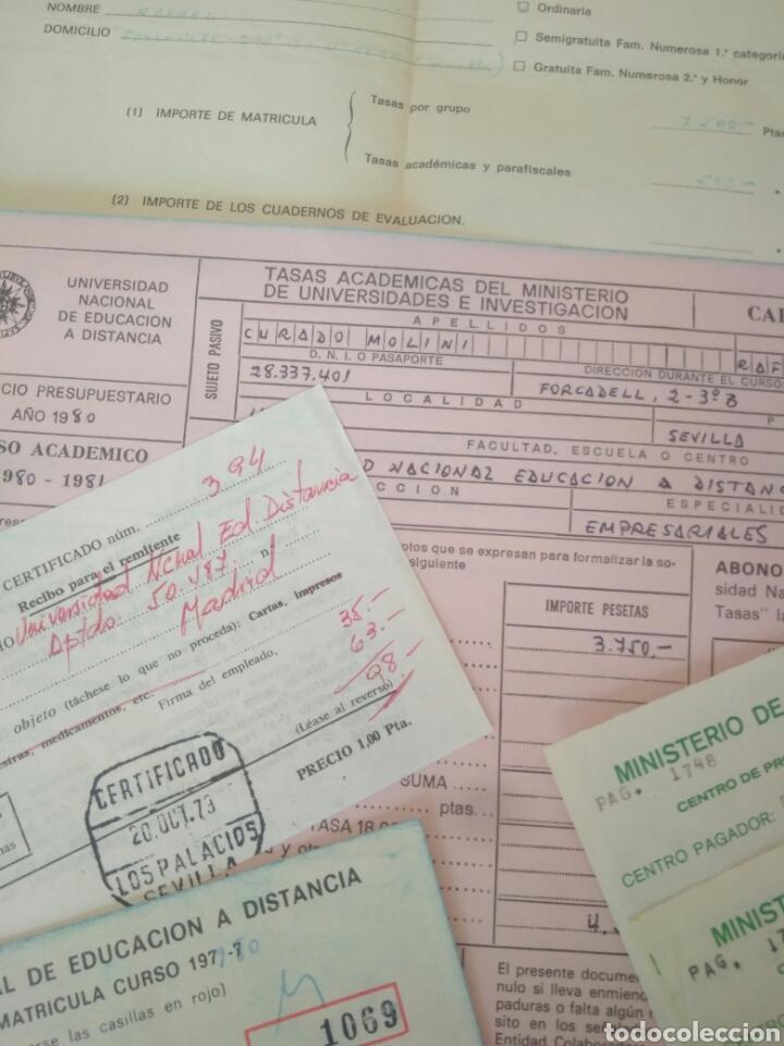 Documentos antiguos: RECIBOS.MATRICULA EJERCISIO PRESUPUESTARIO ETC VER FOTO AÑOS 70.CAJA AHORRO UNIVERSIDAD NACIONAL - Foto 6 - 123586934