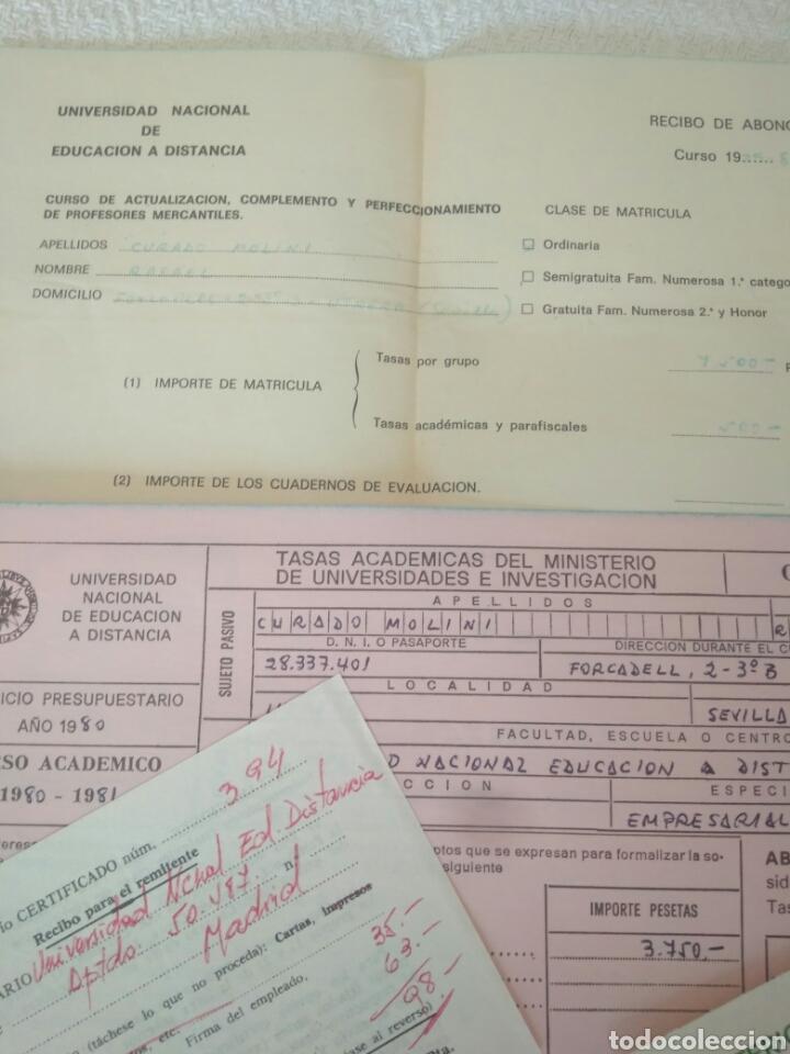 Documentos antiguos: RECIBOS.MATRICULA EJERCISIO PRESUPUESTARIO ETC VER FOTO AÑOS 70.CAJA AHORRO UNIVERSIDAD NACIONAL - Foto 7 - 123586934