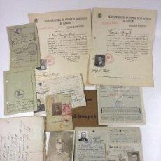 Documentos antiguos: NAZISMO - BARCELONA, LOTE DE DOCUMENTACIÓN VARIADA DE UN MILITAR ALEMÁN EN BARCELONA. . Lote 124025831