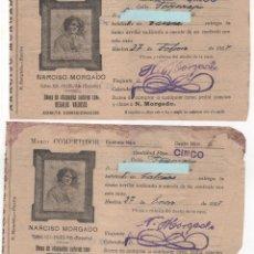 Documentos antiguos: 5 RECIBOS COMPRA DE ANTIGÜEDADES NARCISO MORGADO . HUELVA. AÑO 1926 Y 1927. Lote 124502699