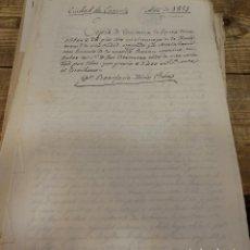 Documentos antiguos: CAZORLA, 1851, ESCRITURA COMPRA DE UN OLIVAR, 1400 REALES. Lote 124547155