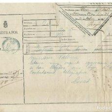 Documentos antiguos: TELEGRAMA 1881 DE PARÍS A VALENCIA. Lote 153676766